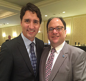 Gladstone Consulting Principal Gary Gladstone with Prime Minister Justin Trudeau - Budget2016