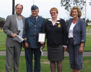 Ontario Trillium Foundation representative Gary Gladstone and Dr. Helena Jaczek, MPP present a cheque for $12,500.